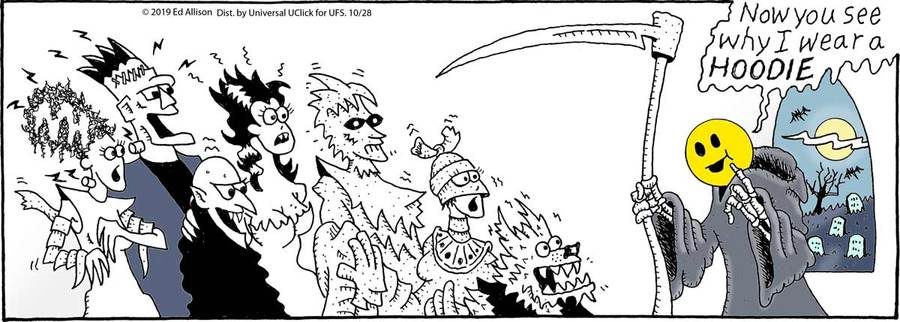 Unstrange Phenomena Comic Strip for October 28, 2019