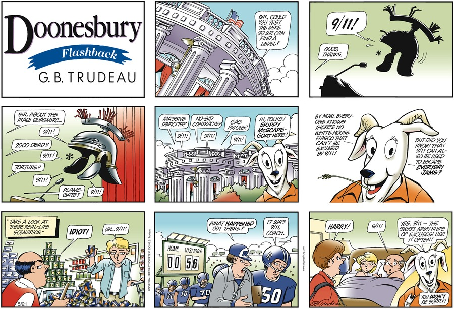 Doonesbury Comic Strip for May 21, 2006