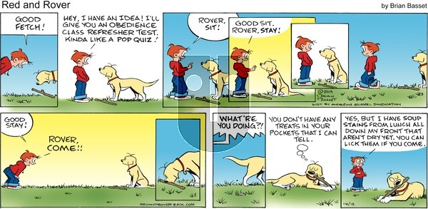 Red and Rover - Sunday October 13, 2019 Comic Strip