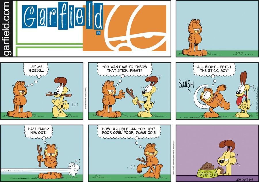 Garfield Comic Strip for May 19, 2019