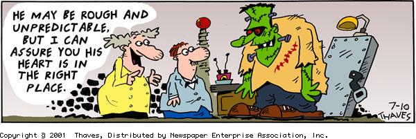 Frank and Ernest Comic Strip for July 10, 2001