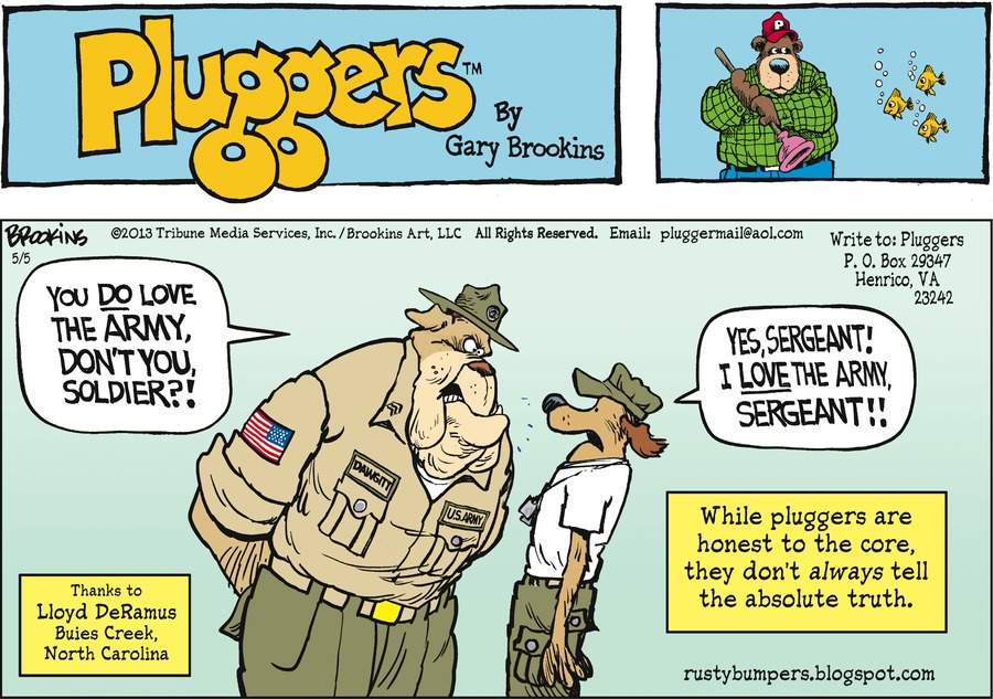 Pluggers for May 5, 2013 Comic Strip