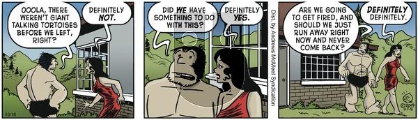 Alley Oop - Wednesday October 16, 2019 Comic Strip