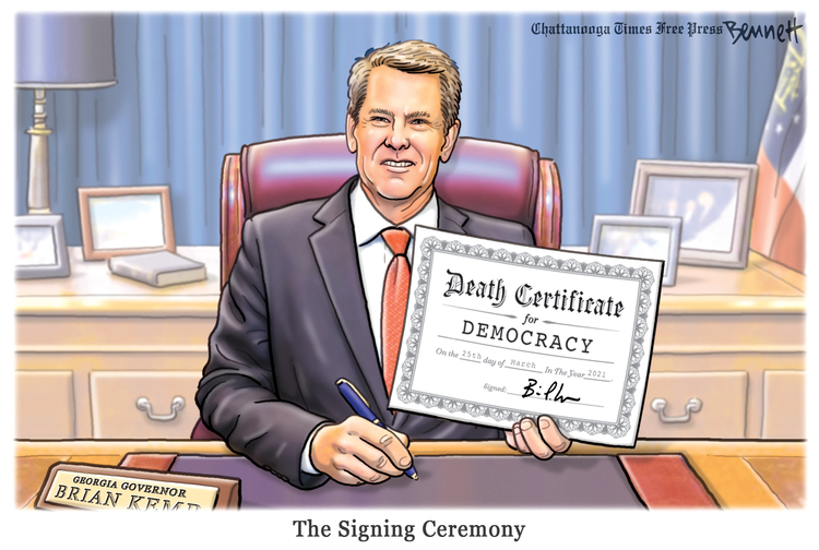 Clay Bennett Comic Strip for March 27, 2021