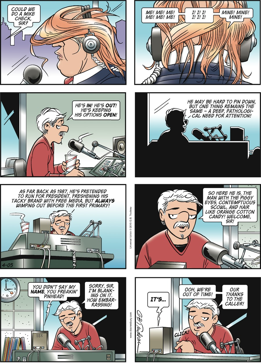 Doonesbury Comic Strip for April 05, 2015