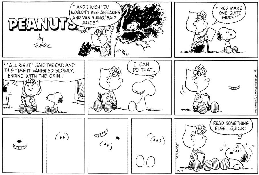 Peanuts Comic Strip for July 11, 1993
