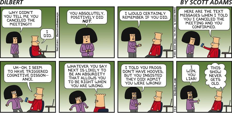 Tina Misremembers - Dilbert by Scott Adams