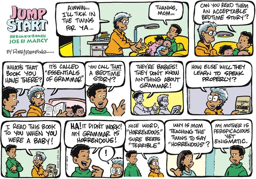 JumpStart Comic Strip for January 10, 2010