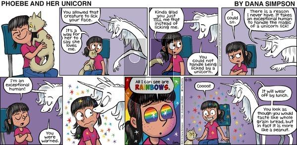 Phoebe and Her Unicorn on Sunday October 28, 2018 Comic Strip