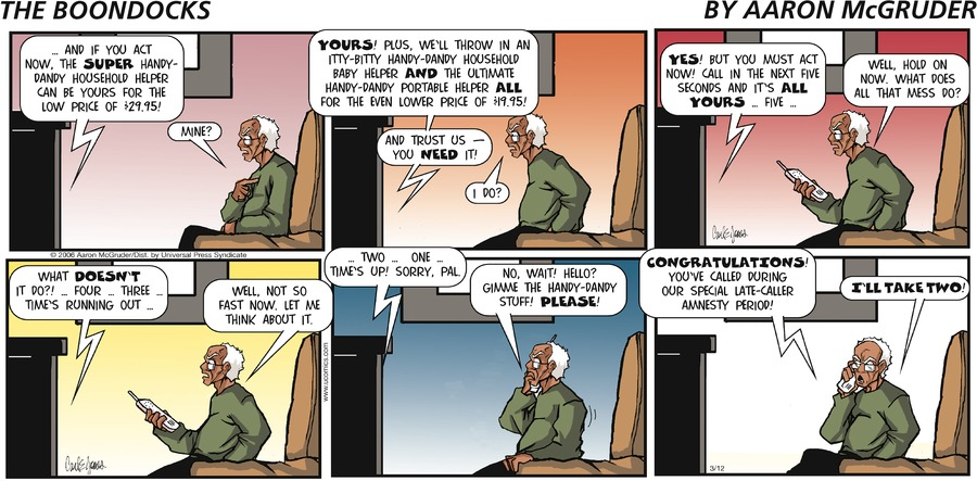 The Boondocks Comic Strip for May 23, 2021