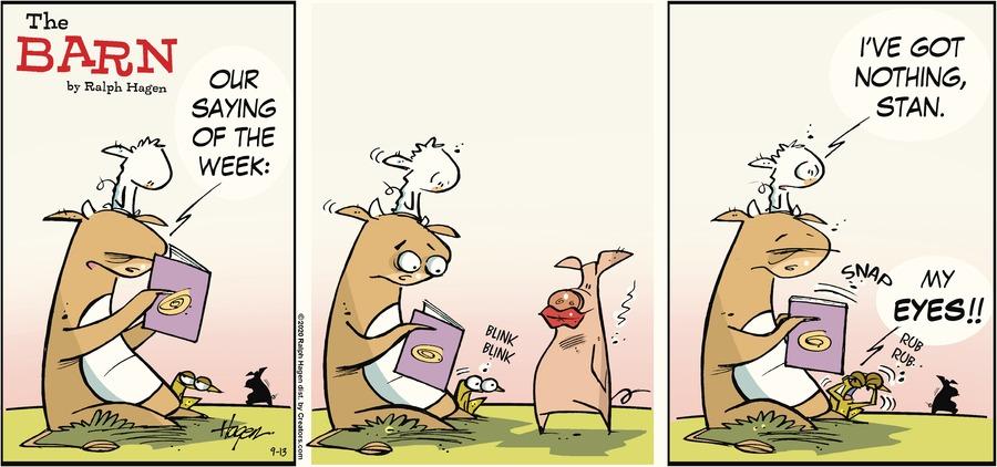 The Barn Comic Strip for September 13, 2020