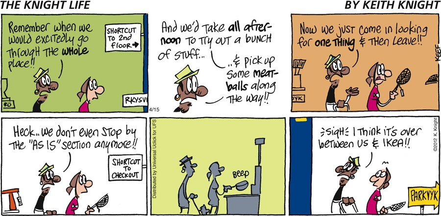 The Knight Life Comic Strip for April 15, 2012