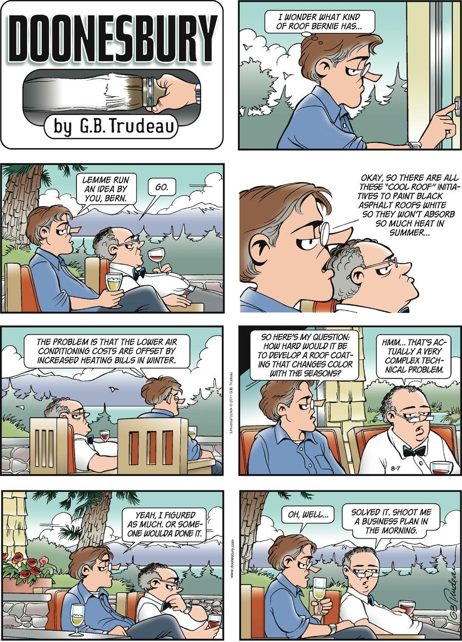 Doonesbury Comic Strip for August 07, 2011