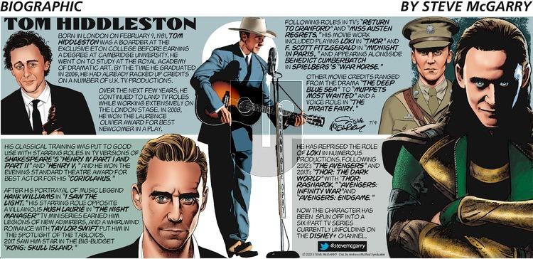 Biographic on Sunday July 4, 2021 Comic Strip