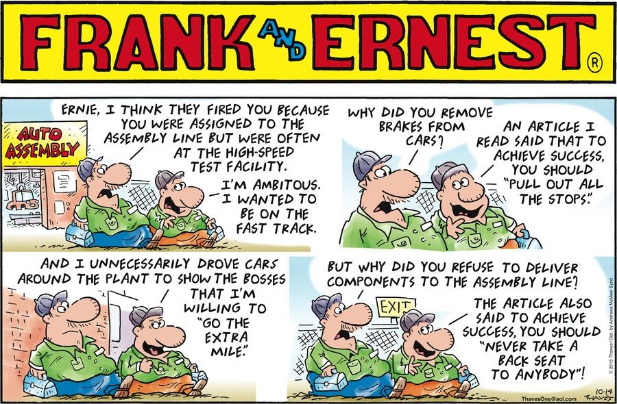 Frank and Ernest Comic Strip for October 14, 2018
