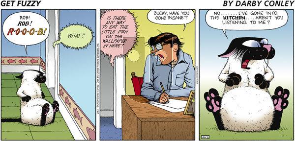 Get Fuzzy - Sunday February 13, 2000 Comic Strip