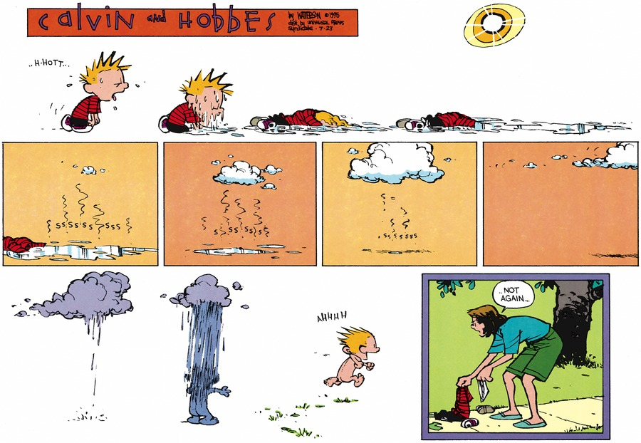 Calvin and Hobbes Comic Strip for July 23, 1995