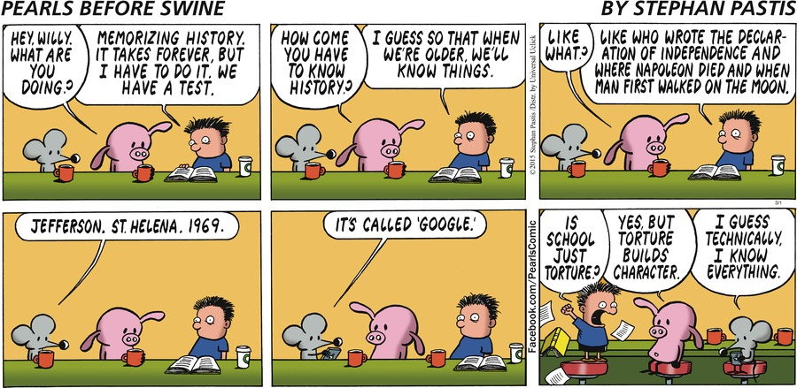 Pearls Before Swine Comic Strip for March 01, 2015