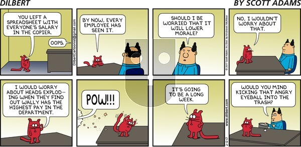 Dilbert on Sunday February 12, 2017 Comic Strip