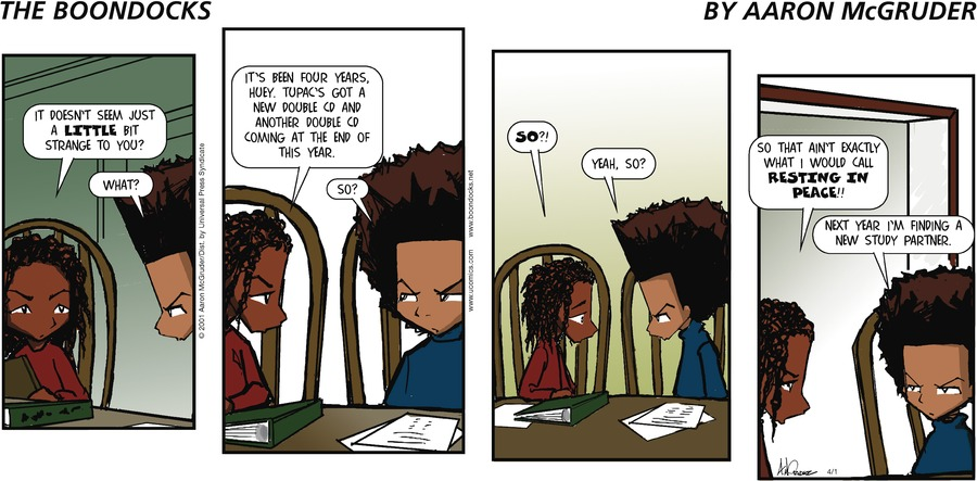 The Boondocks for Apr 1, 2001 Comic Strip