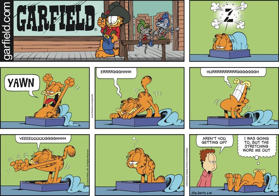 Garfield for Feb 18, 2018 Comic Strip
