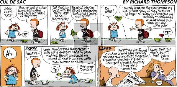 Cul de Sac - Sunday October 7, 2007 Comic Strip
