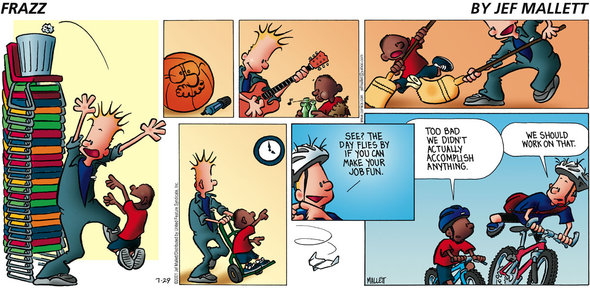 Frazz Comic Strip for July 29, 2001