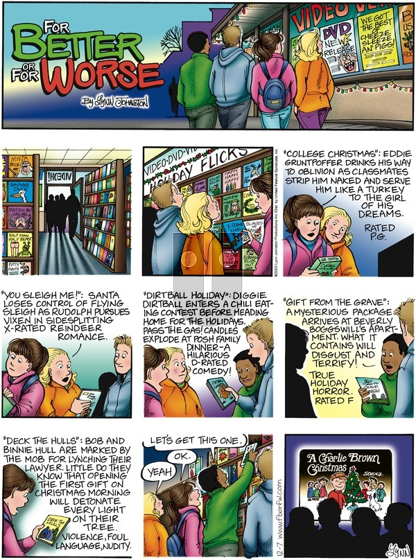 For Better or For Worse on Sunday December 7, 2003 Comic Strip