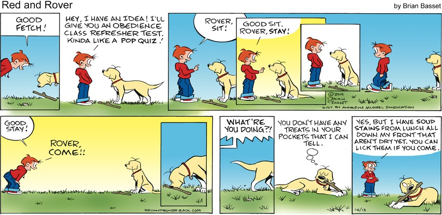 Red and Rover Comic Strip for October 13, 2019