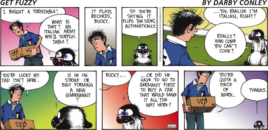 Get Fuzzy Comic Strip for September 06, 2020
