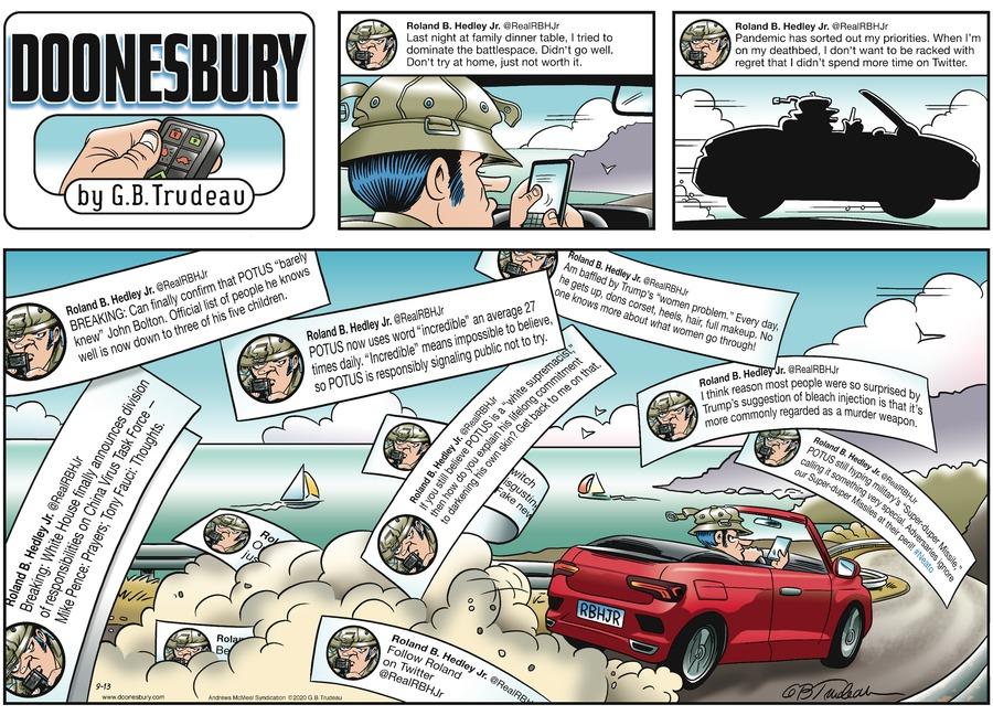 Doonesbury Comic Strip for September 13, 2020