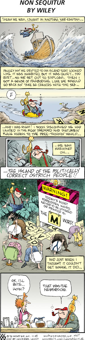 Non Sequitur for Nov 28, 2010 Comic Strip