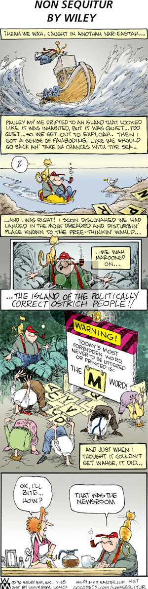 Non Sequitur on Sunday November 28, 2010 Comic Strip