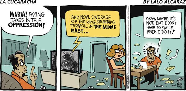 La Cucaracha for Apr 10, 2011 Comic Strip