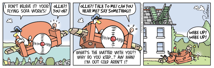 Ollie and Quentin Comic Strip for February 16, 2016