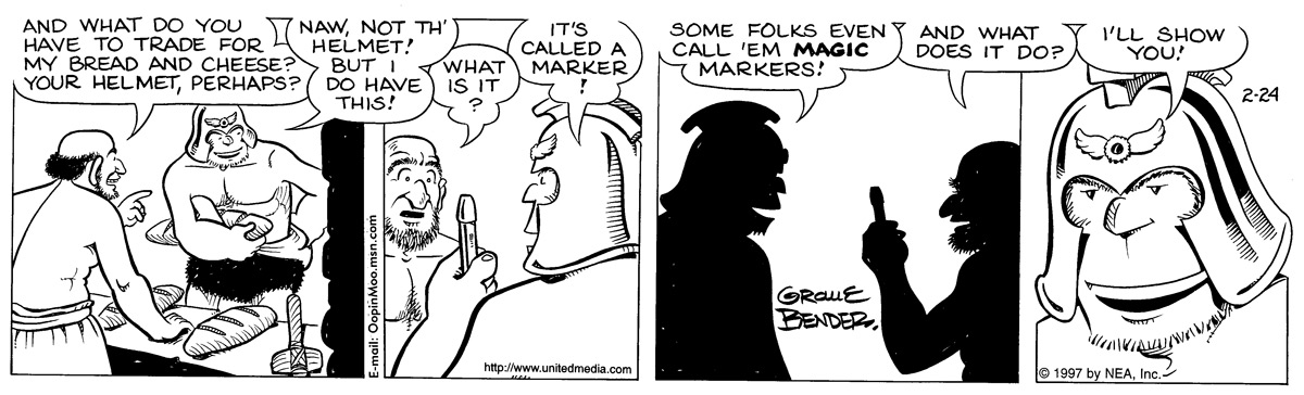 Alley Oop for Feb 24, 1997 Comic Strip