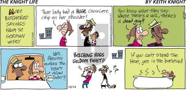 The Knight Life on Sunday October 14, 2012 Comic Strip
