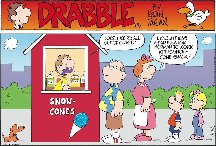 Drabble for Aug 3, 2014 Comic Strip