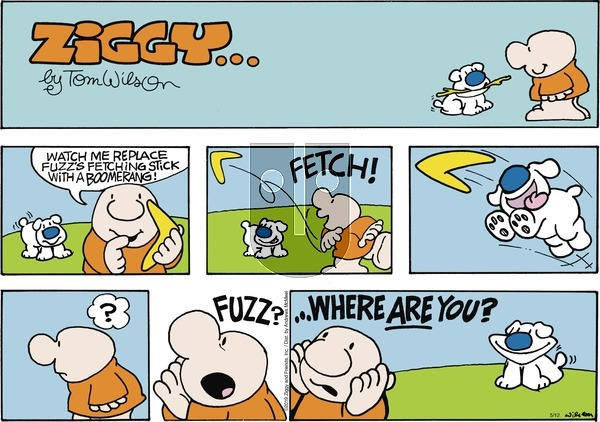 Ziggy on Sunday May 12, 2019 Comic Strip