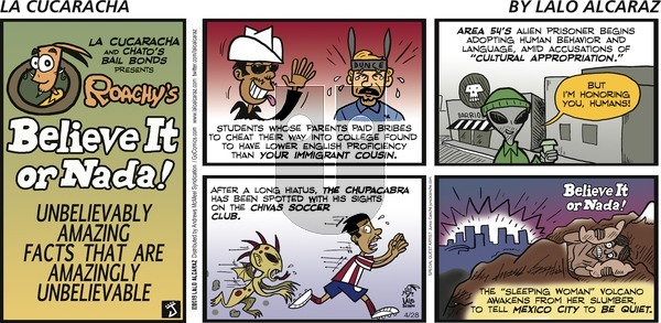 La Cucaracha on Sunday April 28, 2019 Comic Strip
