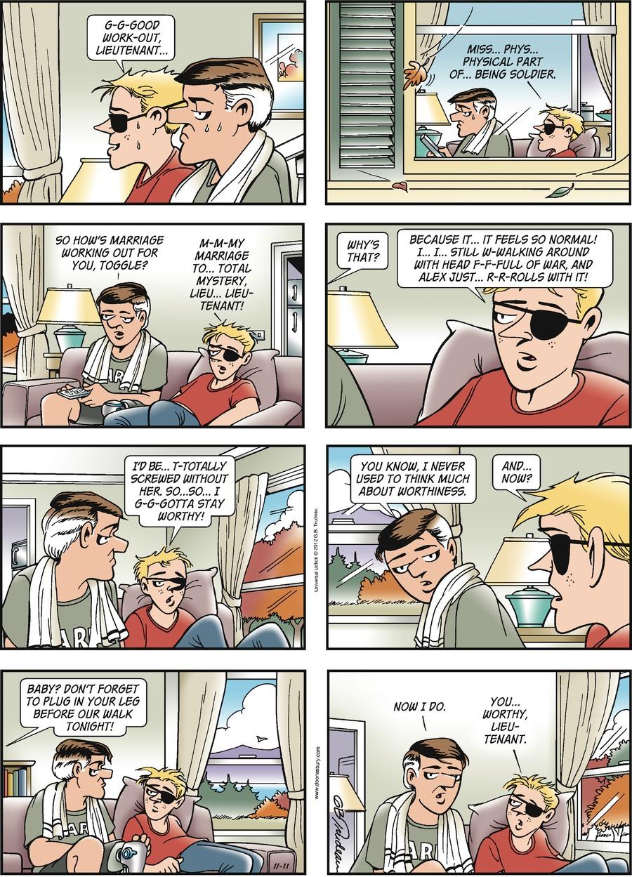 Doonesbury for Nov 11, 2012 Comic Strip