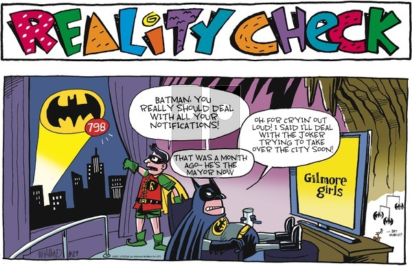 Reality Check on Sunday August 29, 2021 Comic Strip