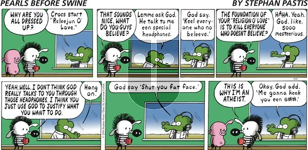 Pearls Before Swine on Sunday August 28, 2016 Comic Strip