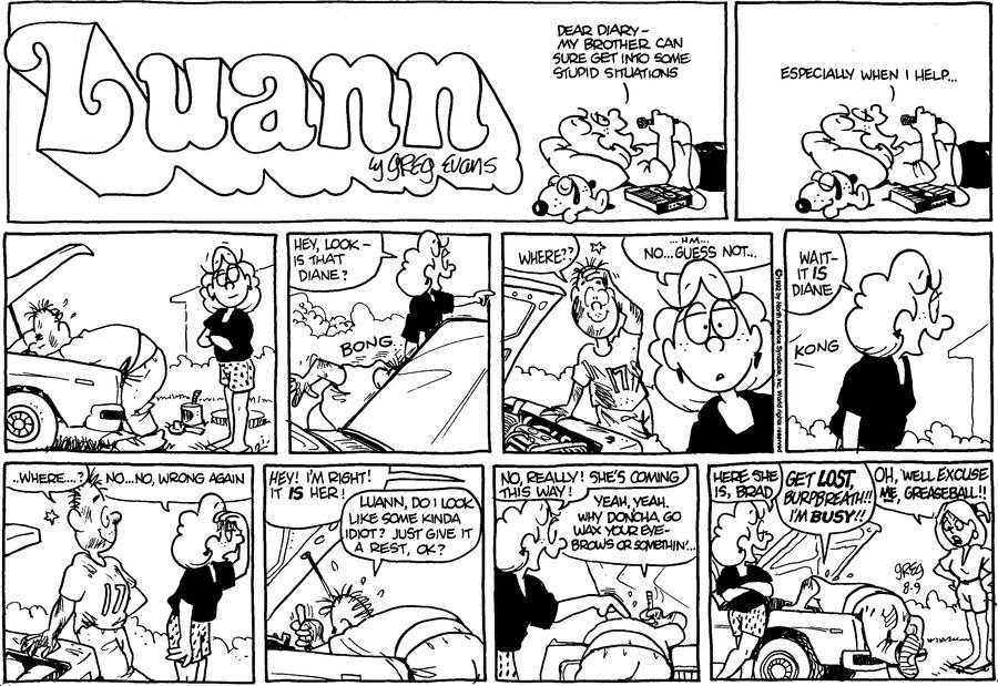 Luann Againn by Greg Evans on Sun, 09 Aug 2020