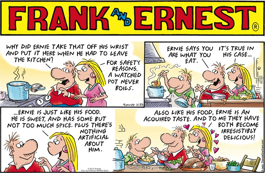 Frank and Ernest Comic Strip for November 25, 2018