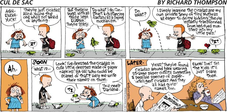 Cul de Sac Comic Strip for October 07, 2007