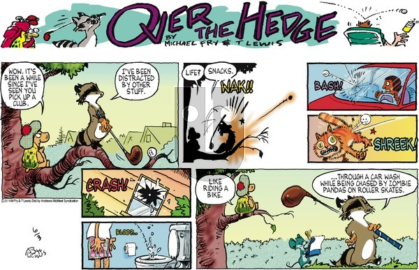Over the Hedge on Sunday June 3, 2018 Comic Strip