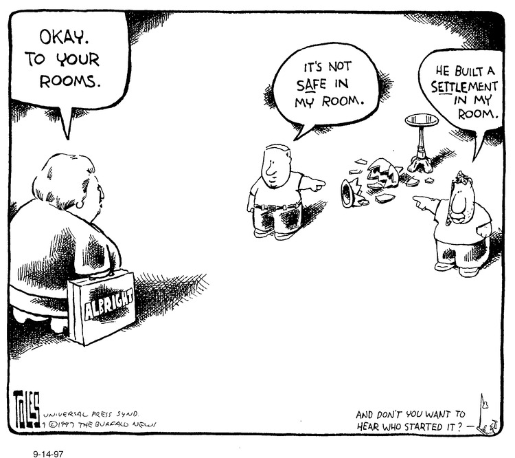 Tom Toles for Sep 14, 1997 Comic Strip