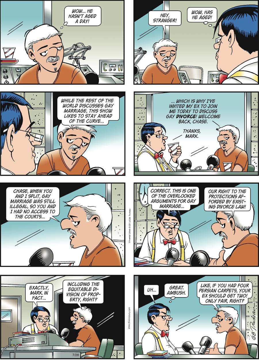 Doonesbury for Jul 28, 2013 Comic Strip