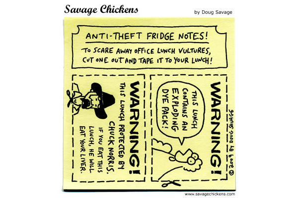 Savage Chickens for Sep 6, 2013 Comic Strip
